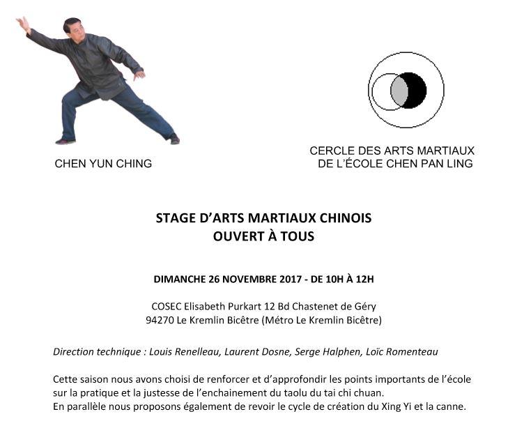 Fr stage for Arts martiaux pdf